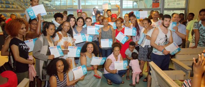 Deelnemers van het ZwemSOS zijn klaar voor het behalen van zwemdiploma A!